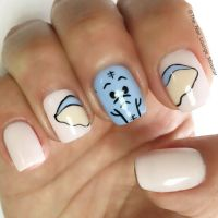 Cute baby shower elephant nail art design | Nail Art ...