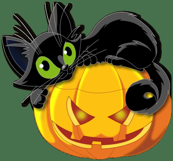 Halloween Black Cat Clip Art Transparent Background
