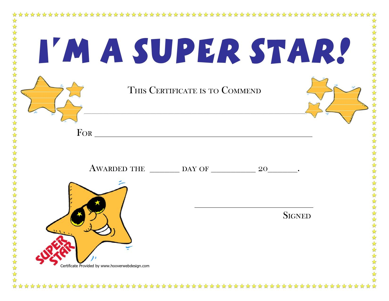 free printable student award certificates