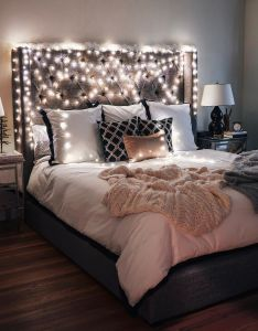 Future house also the lights around headboard are  bit extra but love this rh pinterest