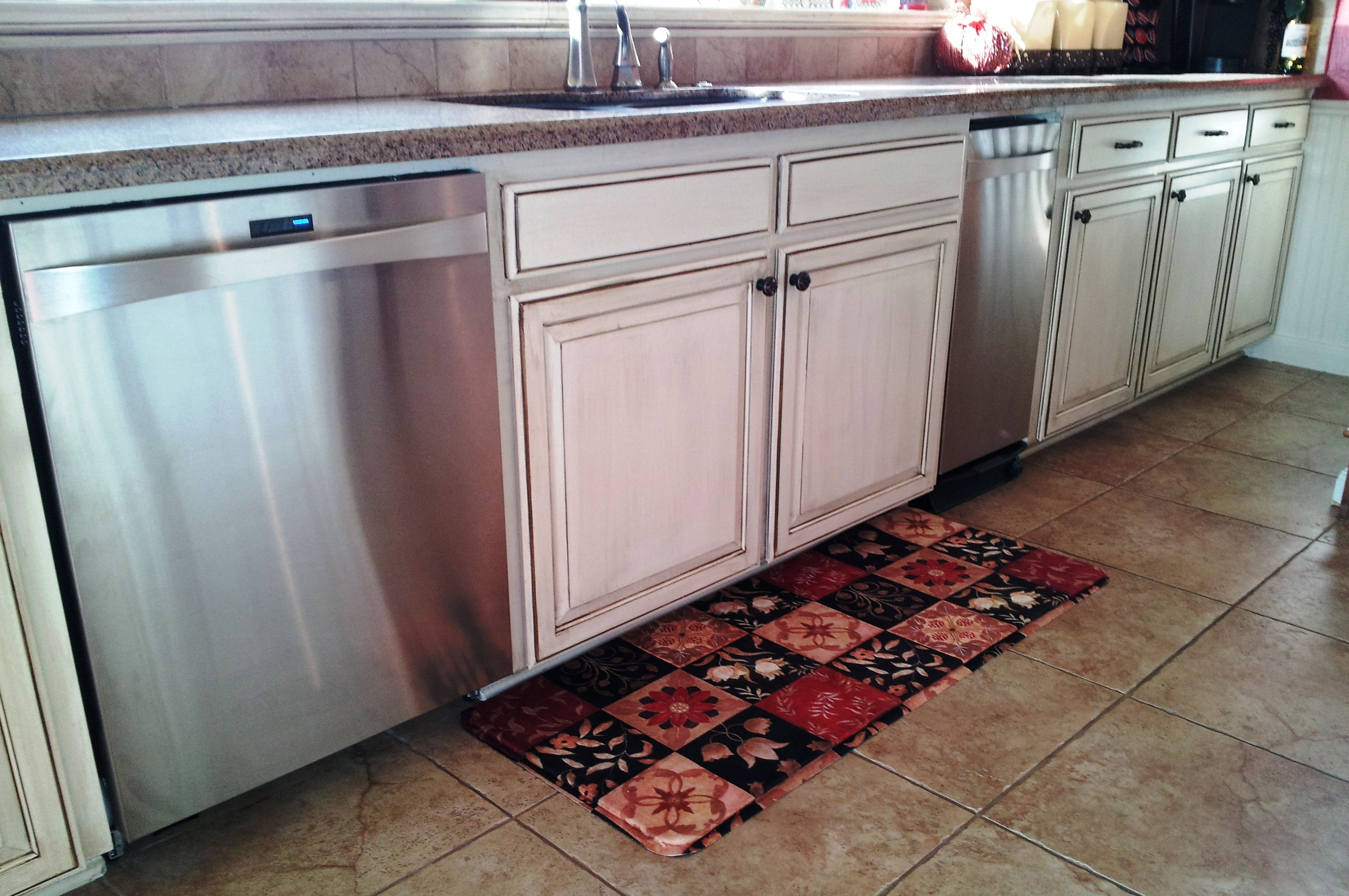 kitchen trash compactor modern sink lower cabinets with new kenmore elite dishwasher and