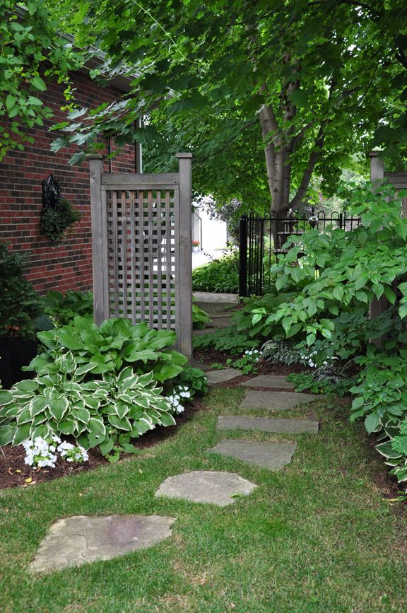 Ideas For That Narrow Space In Between Suburban Homes Gardens