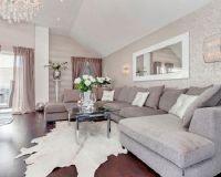Beautiful Metallic Silver Living Room Wallpaper | Home ...