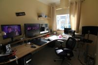 Office Workspace Home Gaming Desk Setup Ideas Ultimate ...