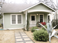 Like this light mint green with white trim (exterior house ...