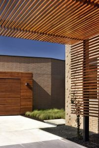 *architecture, outdoor spaces, walls, dividers* - Slatted ...