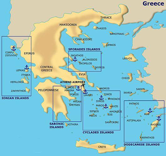 The 25 best Map of greek islands ideas on Pinterest Map