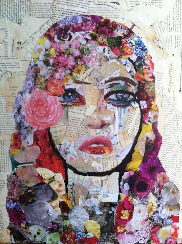 Mixed Media Collage Art Portraits