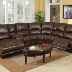 Brown Vine Leather Sofa Sofas Las Vegas Nv Dark Sectional With Recliner And Coffee