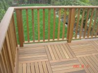 deck railing ideas | Iron Wood Railing | garden ...