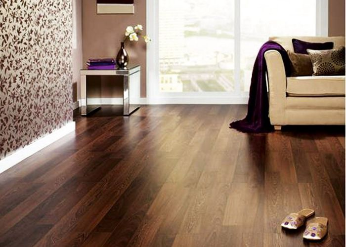 Endearing laminate wood flooring idea installed in modern living room with brown mahogany fake planks finish also more reasons to choose designflooring karndean