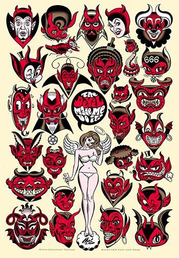 Rockabilly Tattoo Designs  Google Zoeken Psychobilly