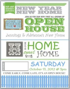 Our house warming party invitation also butterflies deco leaves invite rh pinterest