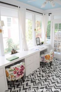 The Cow Spot: Sunroom Turned Home Office Reveal | Sunroom ...