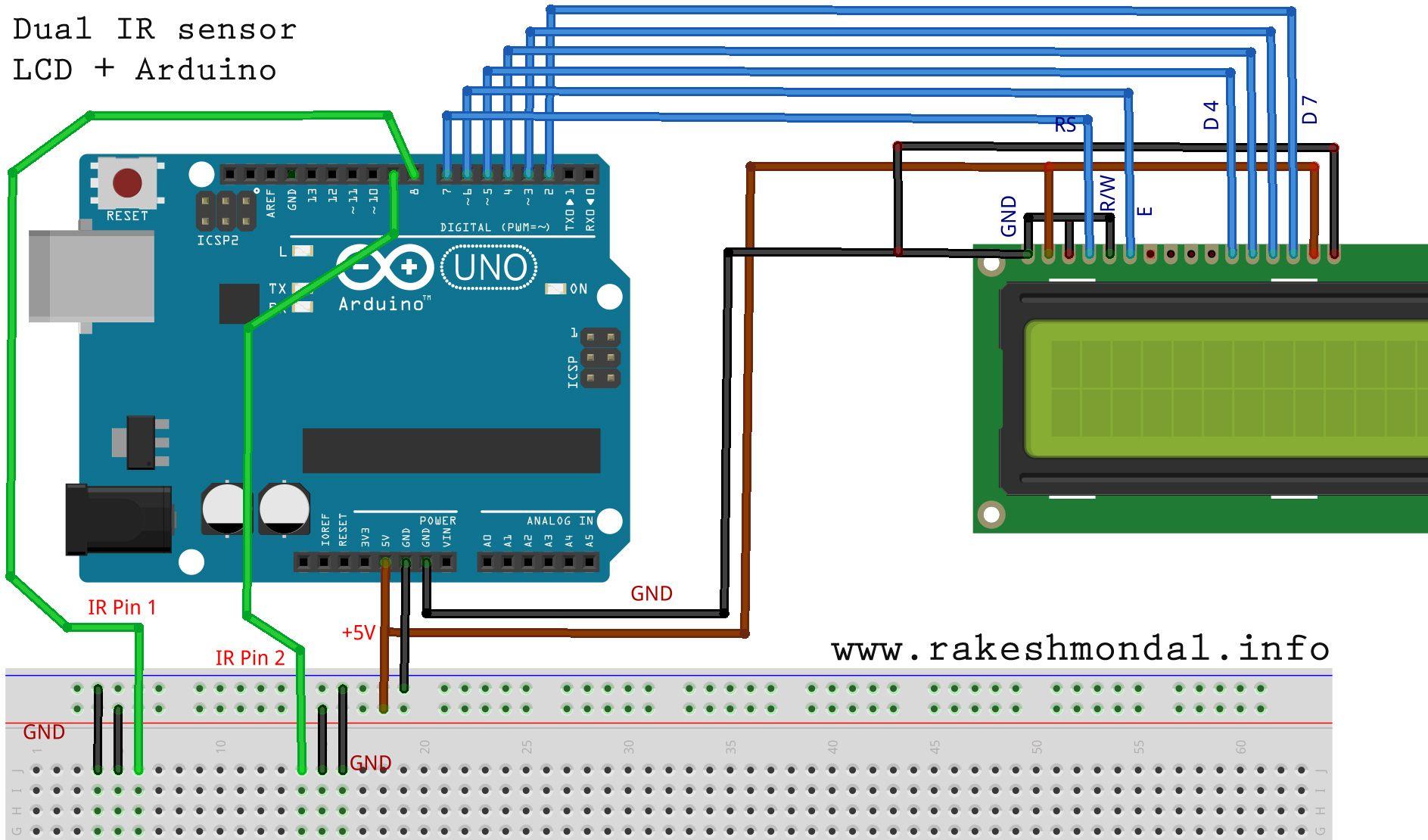 Dual IR Sensor Arduino LCD 1887×1110 Cecco Pinterest