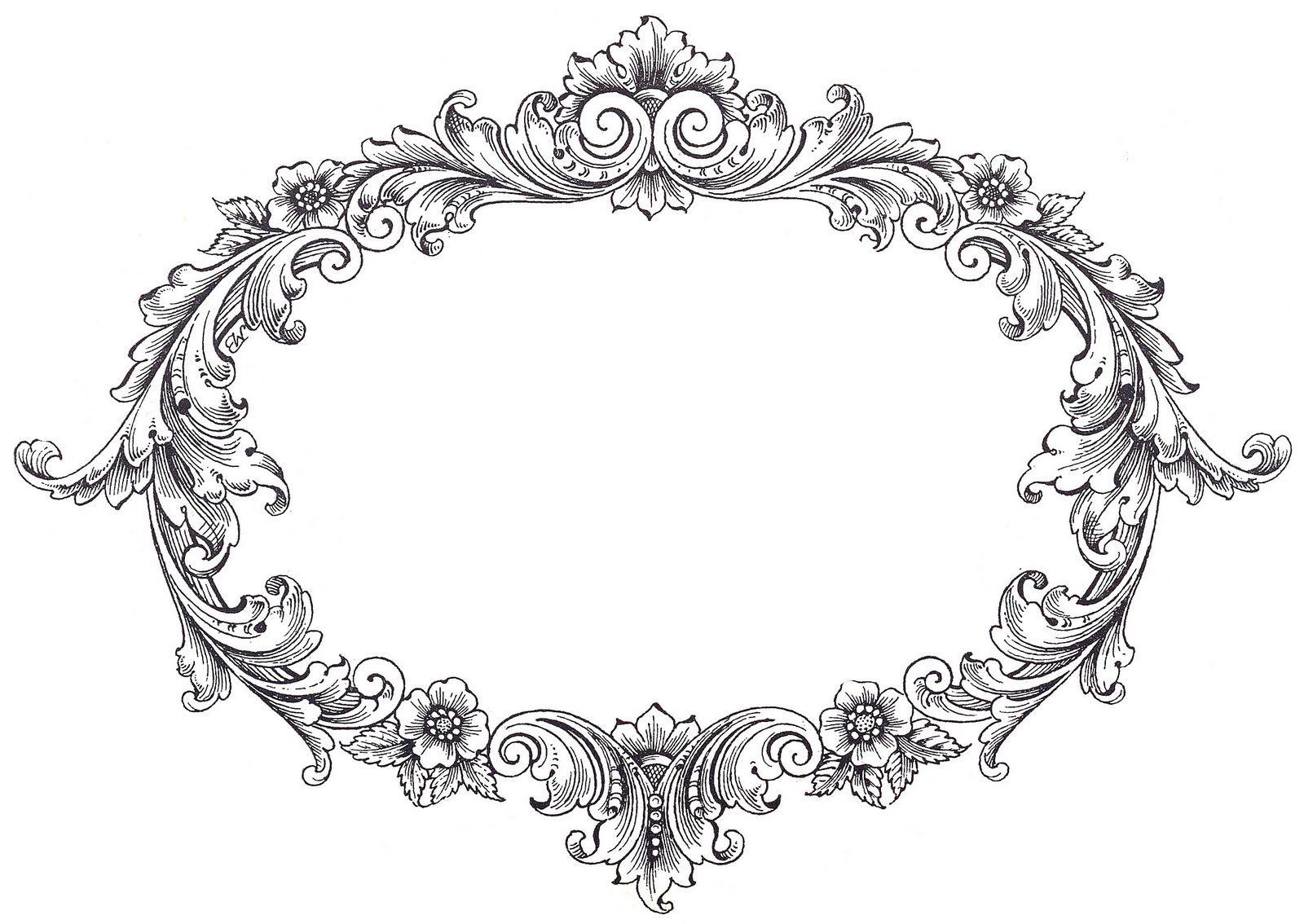 Art Black Border Black Frames And Clip Diamond White Background Borders