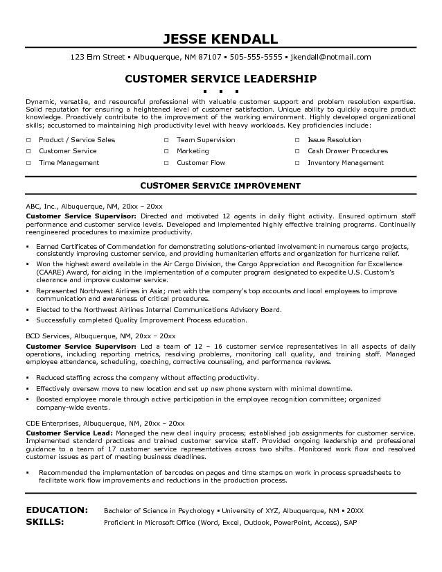 Good Customer Service Skills Resume Resumecareer Info