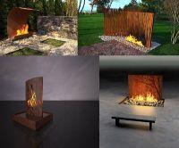 unique outdoor fireplace design ideas