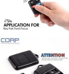 new case only keyless entry remote key fob for ford focus escape explorer [ 1000 x 6000 Pixel ]