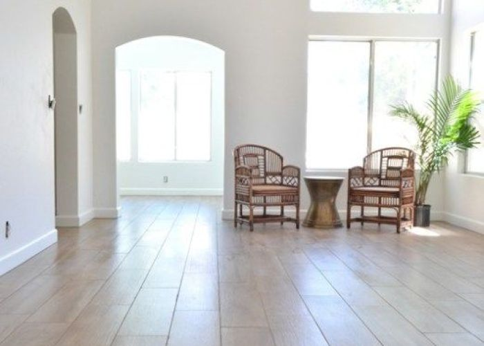 Daltile living room floors wood plank tilewood also house vincent cir pinterest