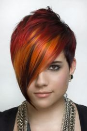 short colorful punk orange red
