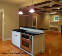 Kitchen island with separate stove top from oven ...