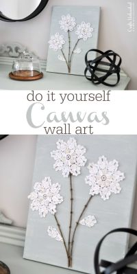 DIY Canvas Wall Art: Shabby Chic Flowers