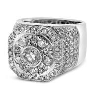 diamond pinky rings for men | Home Men's White Gold ...