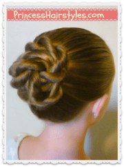 """quick and easy """"twisted knot"""" #bun"""