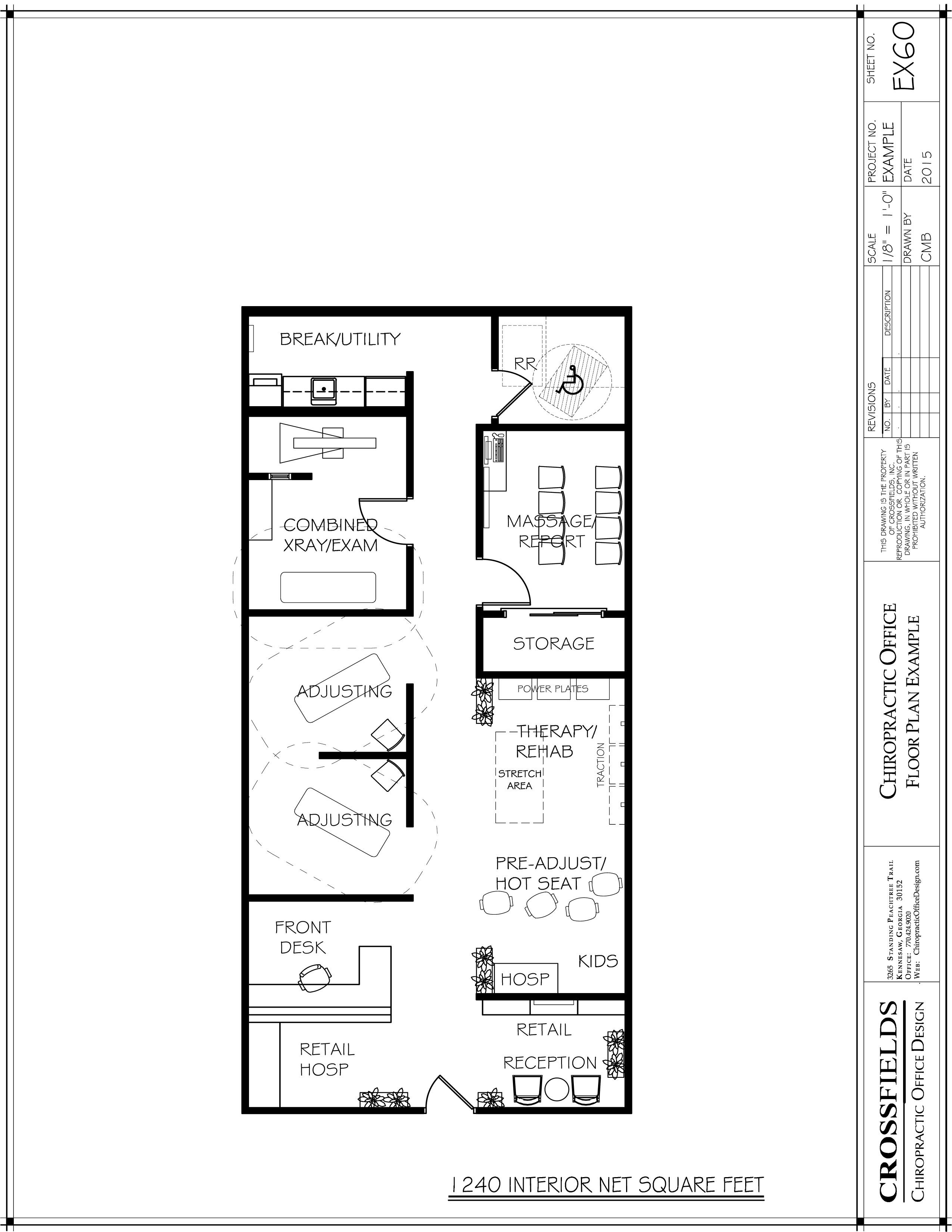 Sample Plan with Open Therapy Rooms and Semi-Open
