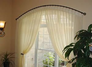 Curved Curtain Rods For Arched Windows The Drapery Makery
