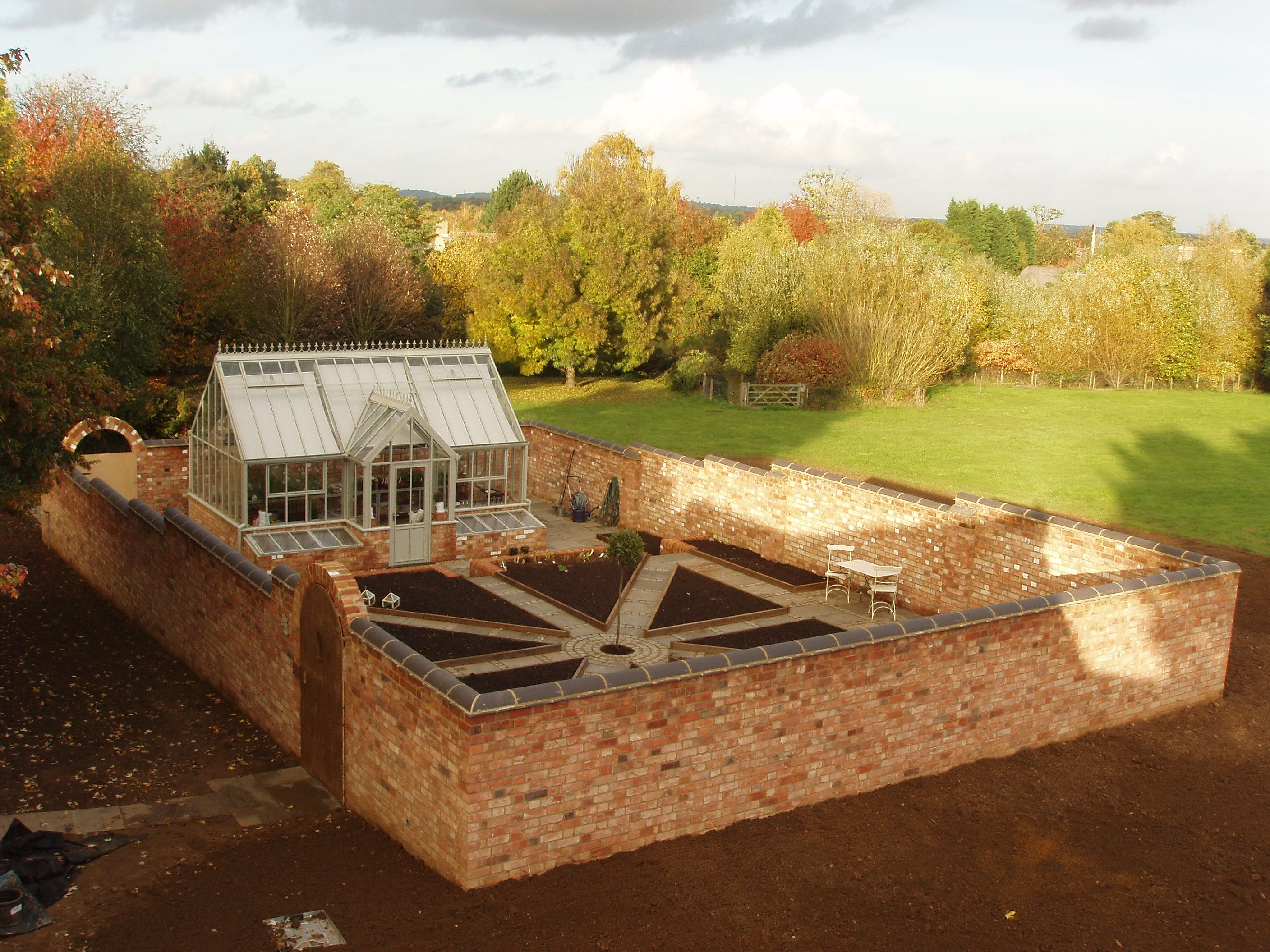 Construction Just Complete! A Productive Walled Kitchen Garden