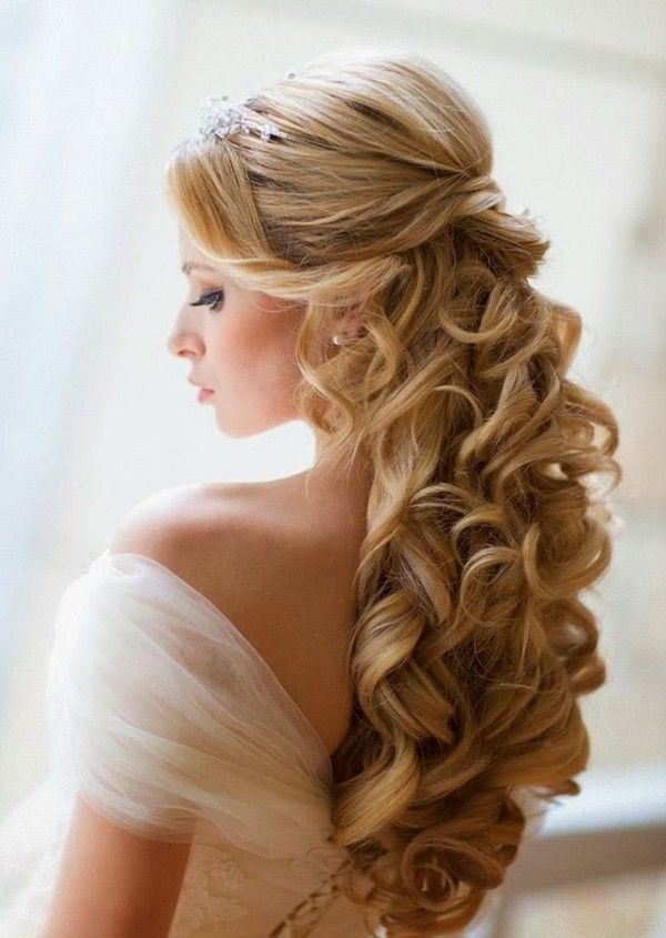 Wedding Hairstyles Long Hair Half Up Half Down Veil Hair