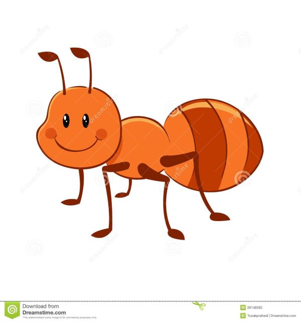 cartoon ant mascot stock