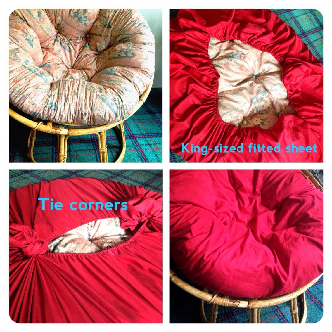 diy chair cushion no sew balcony height patio chairs papasan cover magic pinterest