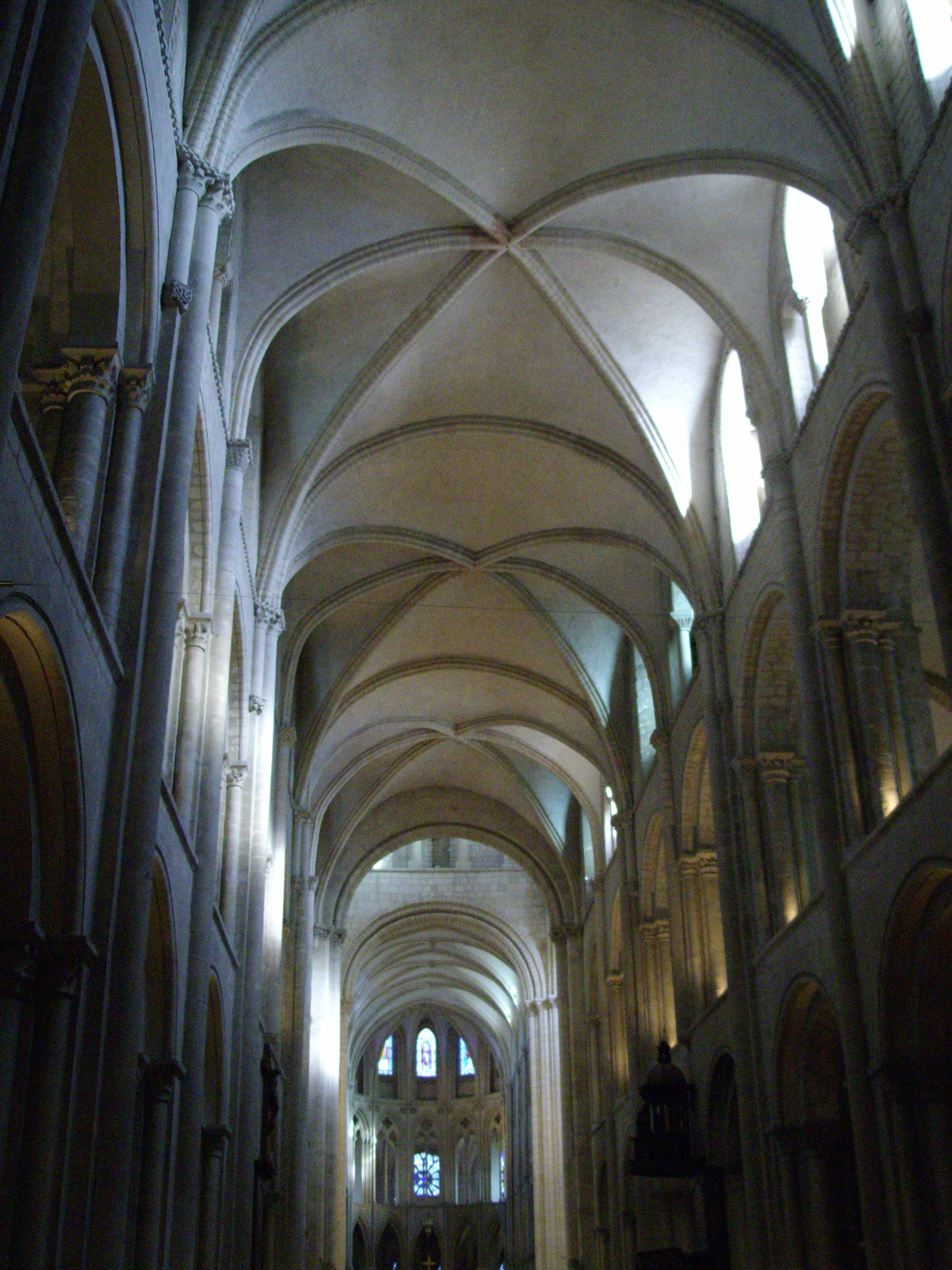 The ribbed vaults at the SaintEtienne Caen are