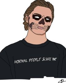 Tate Langdon. #illustration #tate #tatelangdon #ahs