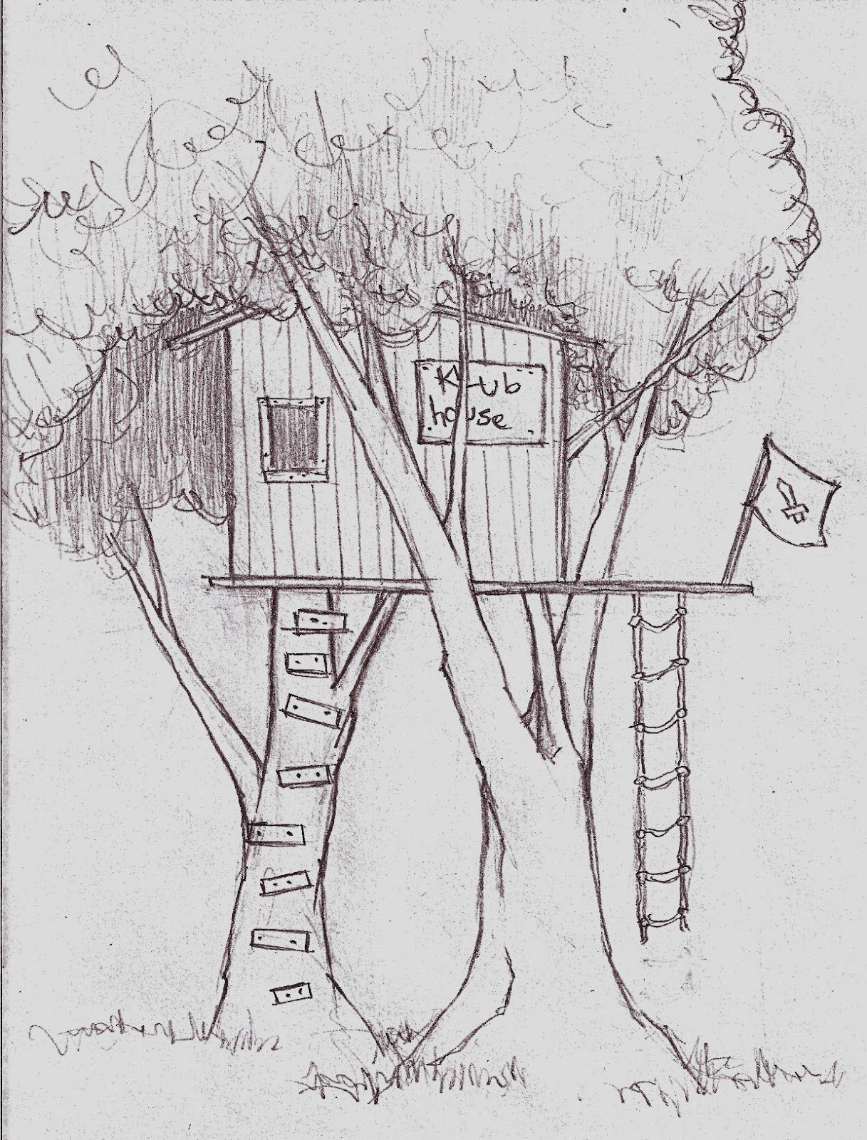 Tree House Drawings For Kids