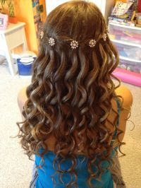 Waterfall braid with curls | Hair Styles | Pinterest ...