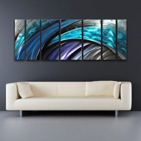 Amazon typhoon modern abstract metal wall art sculpture blue purple painting also rh pinterest