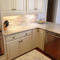 White Kitchen Cabinets And Backsplash Faucet Oil Rubbed Bronze Travertine With Bone Crema
