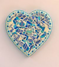 Turquoise Heart Mosaic Wall Art by Rana Cullimore www ...