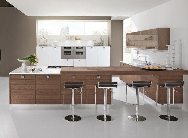 La cucina Adele Project di Cucine Lube si articola in un