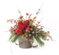 Christmas Floral Arrangement Ideas   Christmas   Pinterest ...