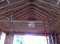 Vaulted Ceiling Truss Suggestions? Tall Pitch - The Garage ...