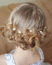 flower girl updos weddings