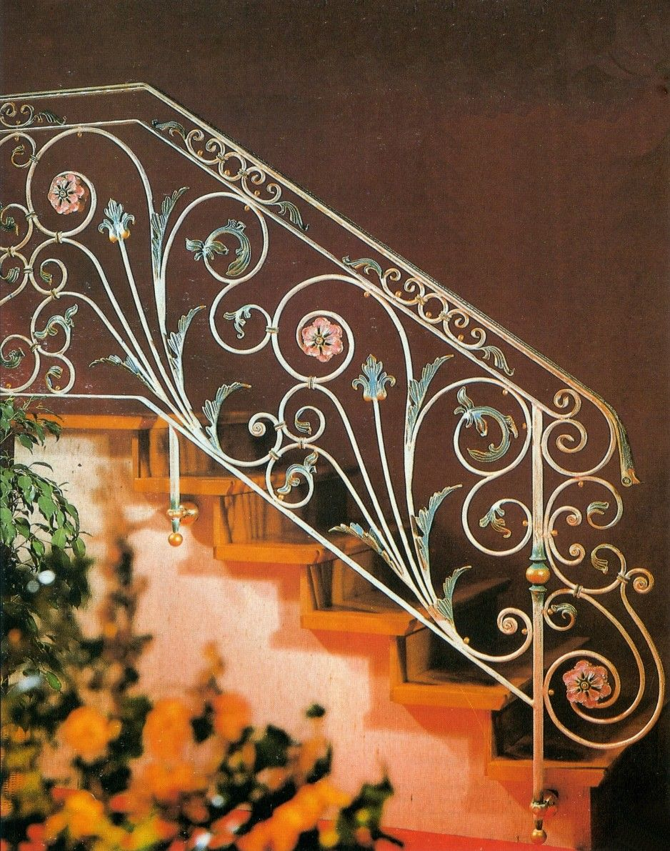 Exterior Chic Floral Patterned Wrought Iron Stair Railings Design Railing As Well As Rod Iron