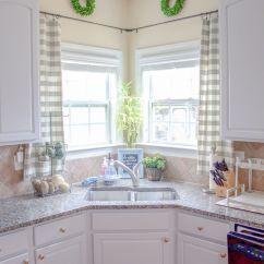 Kitchen Valances For Windows Cabinet Door Styles Window Treatments Corner Curtains