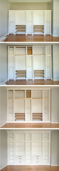 IKEA HACK: DIY BUILT-IN BOOKCASE with Hemnes furniture ...