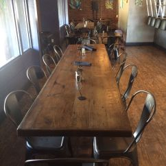 Cafe Chairs Wooden Dark Wood Table With White Reclaimed Top Straight Planks Available In
